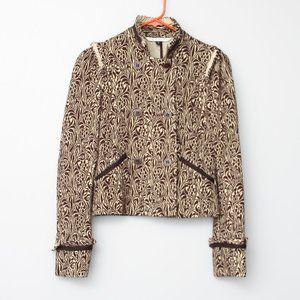 Diane von Furstenburg Logan brown blazer jacket